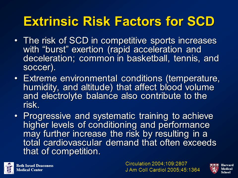 Extrinsic Risk Factors for SCD
