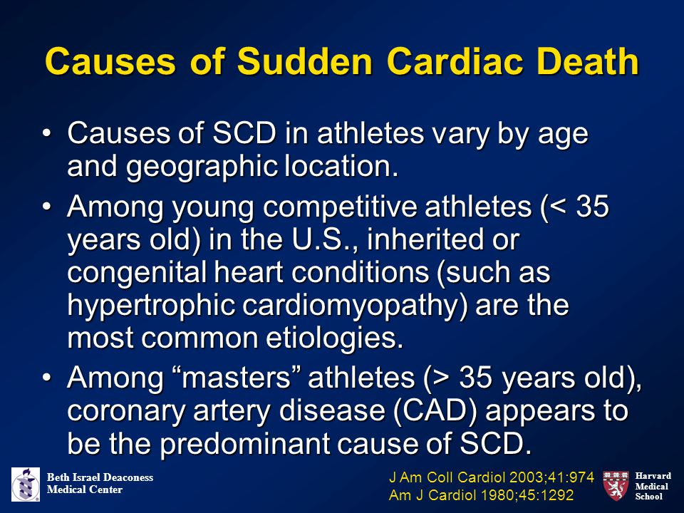 Causes of Sudden Cardiac Death