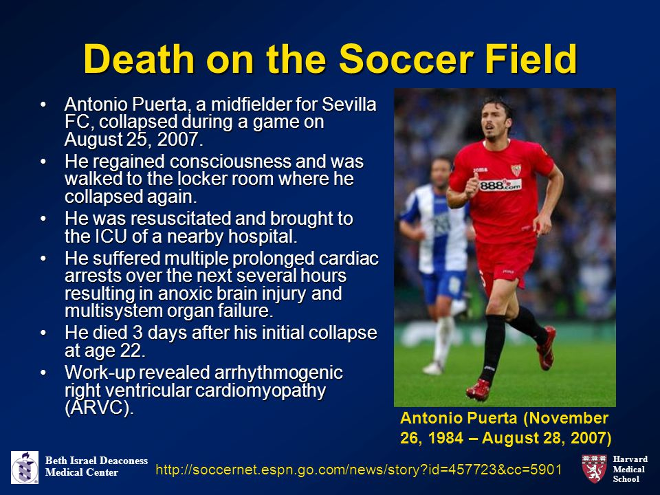 Death on the Soccer Field