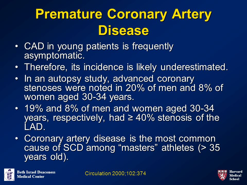 Premature Coronary Artery Disease