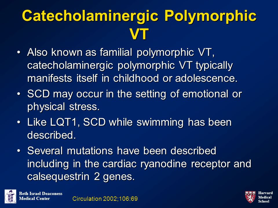 Catecholaminergic Polymorphic VT