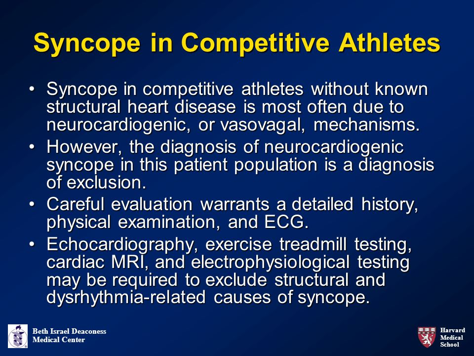 Syncope in Competitive Athletes
