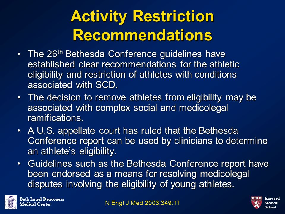 Activity Restriction Recommendations