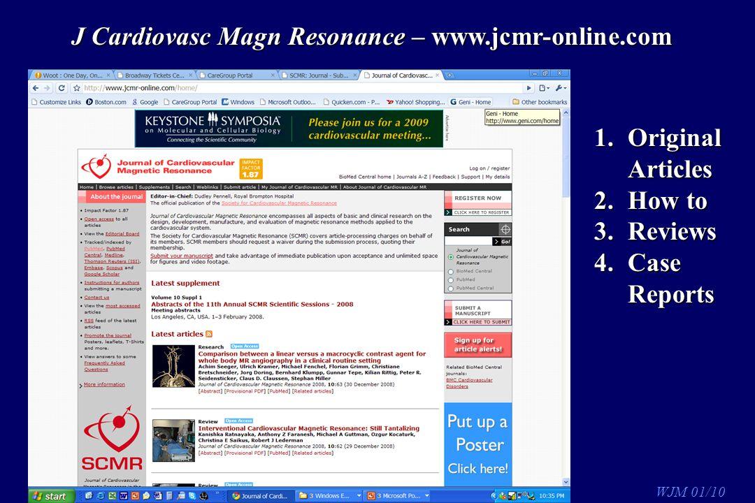 J Cardiovasc Magn Resonance – www.jcmr-online.com