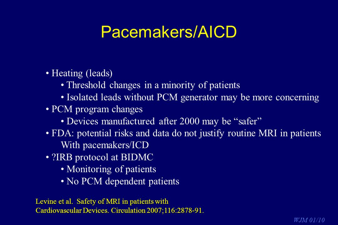 Pacemakers/AICD Heating (leads)