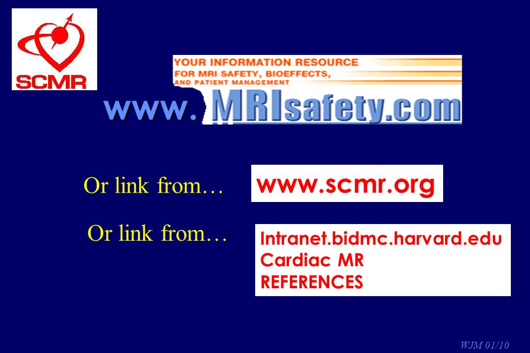 www. www.scmr.org Or link from… Or link from…