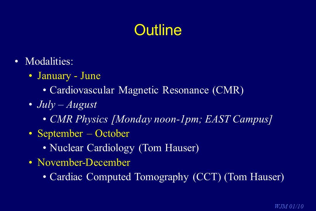 Outline Modalities: January - June