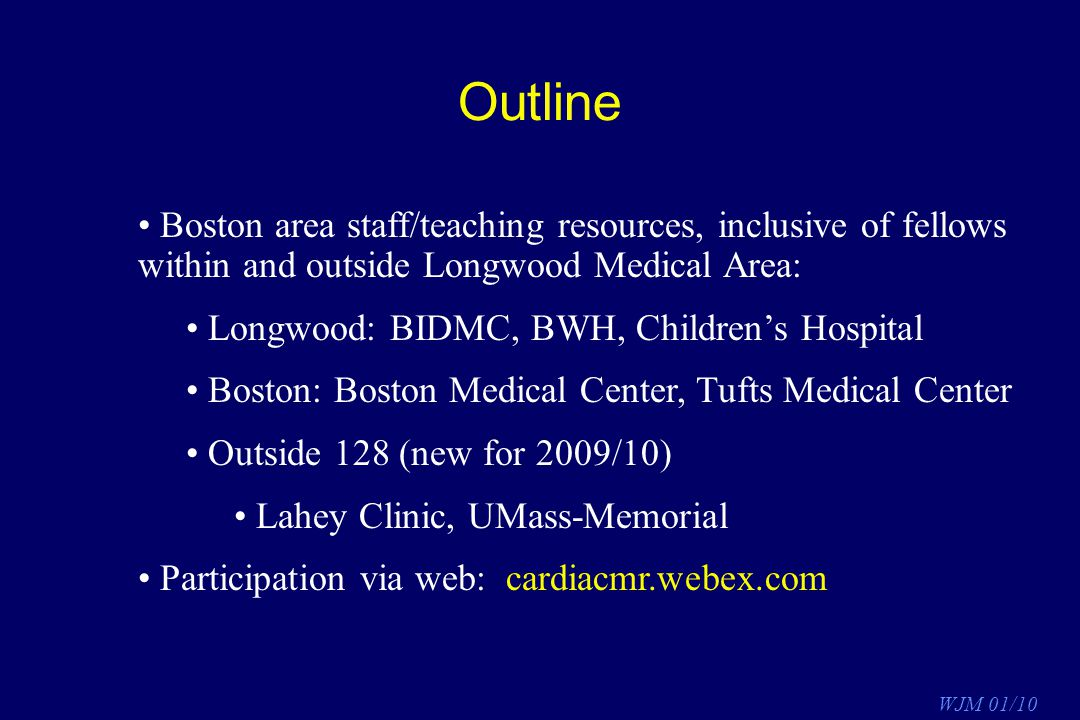 Outline Boston area staff/teaching resources, inclusive of fellows within and outside Longwood Medical Area: