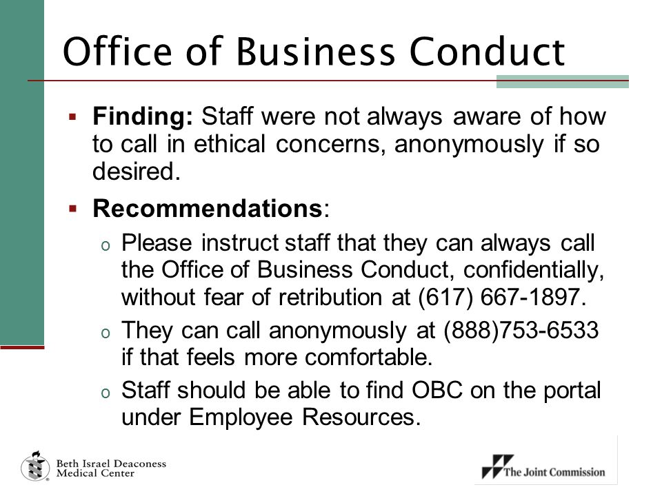 Office of Business Conduct