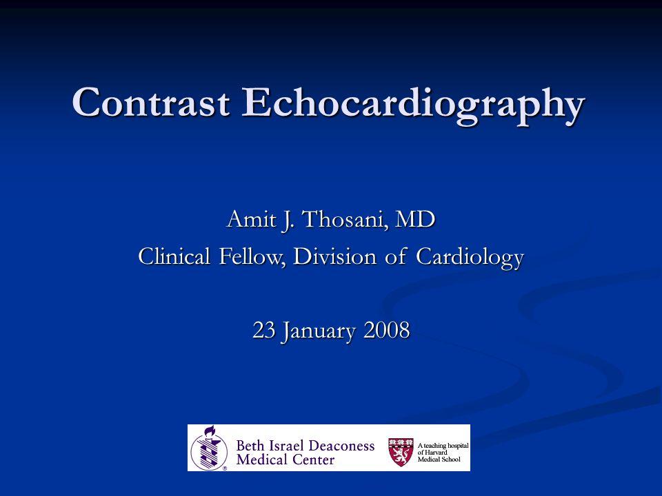 Contrast Echocardiography