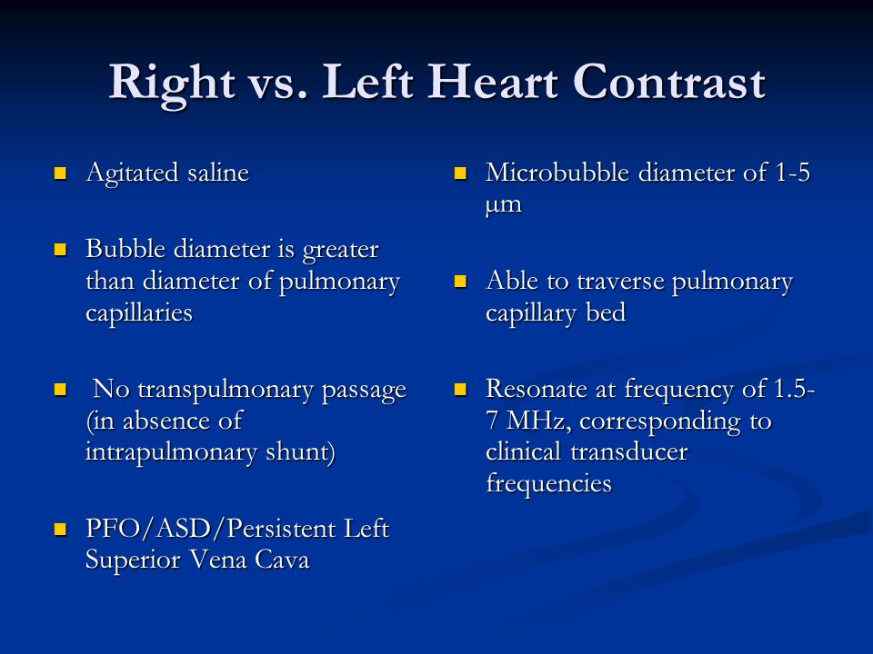 Right vs. Left Heart Contrast