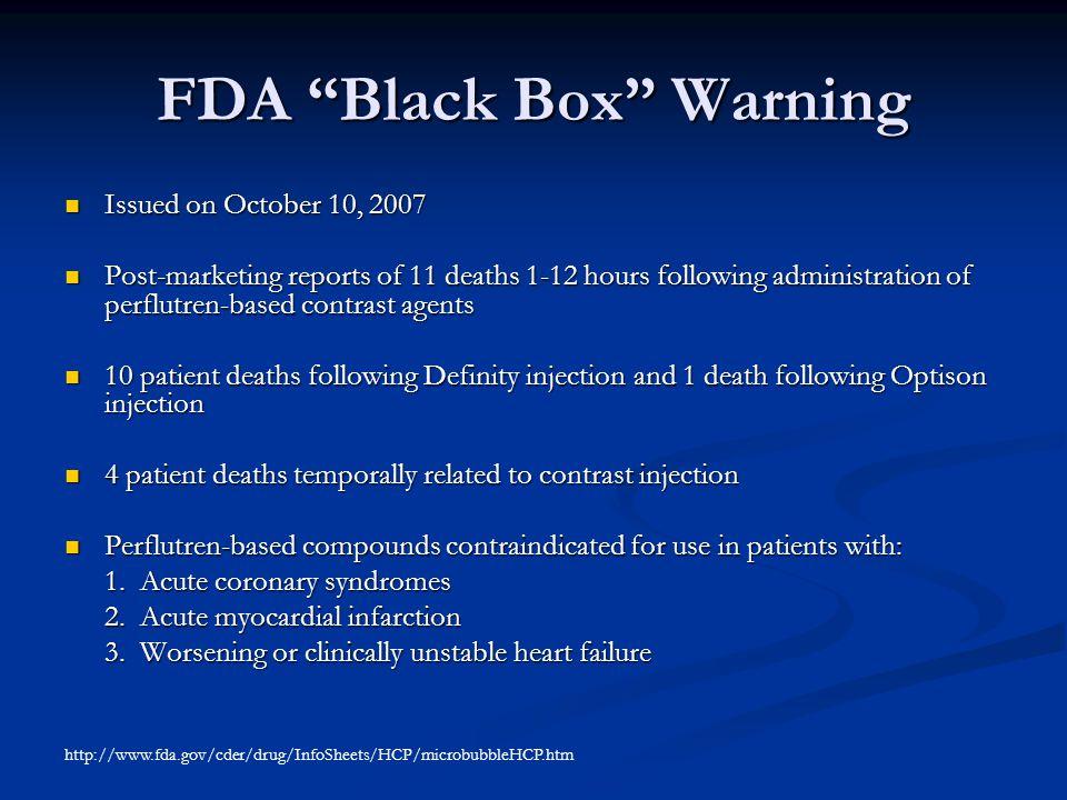 FDA Black Box Warning