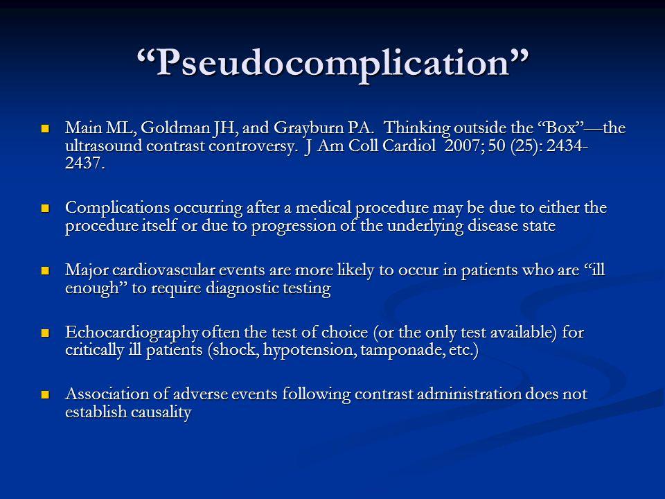 Pseudocomplication