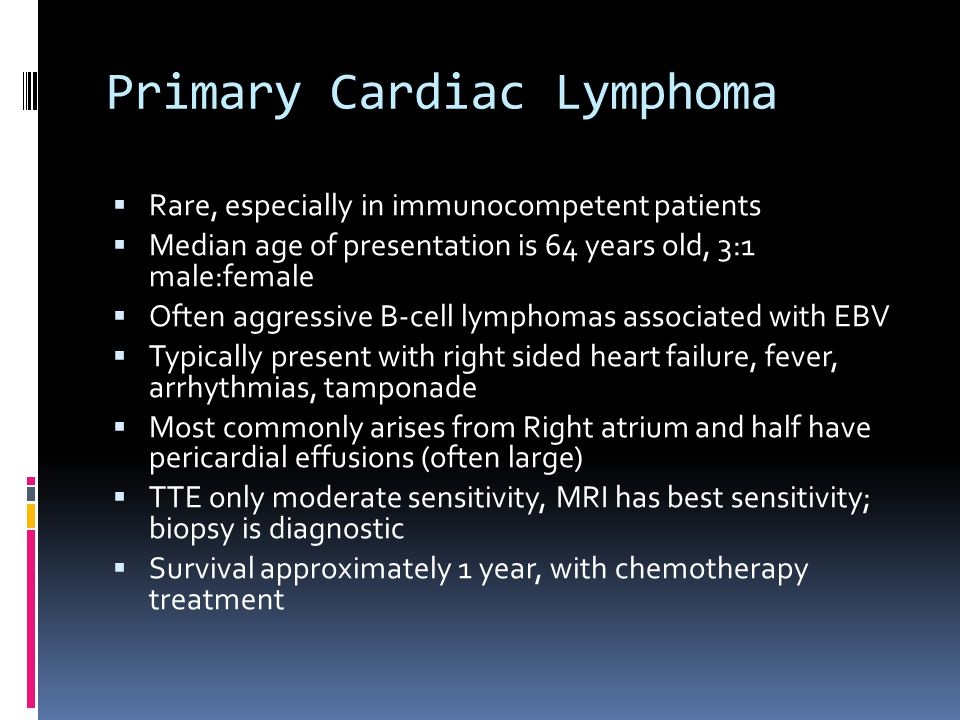 Primary Cardiac Lymphoma