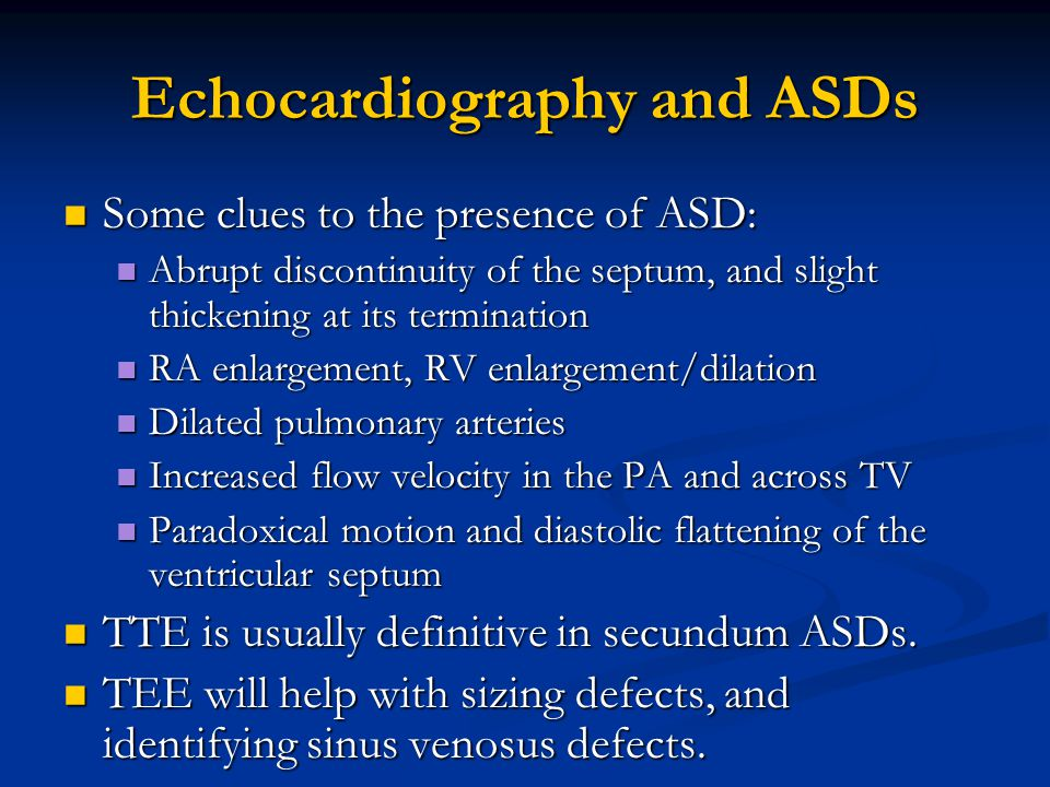 Echocardiography and ASDs