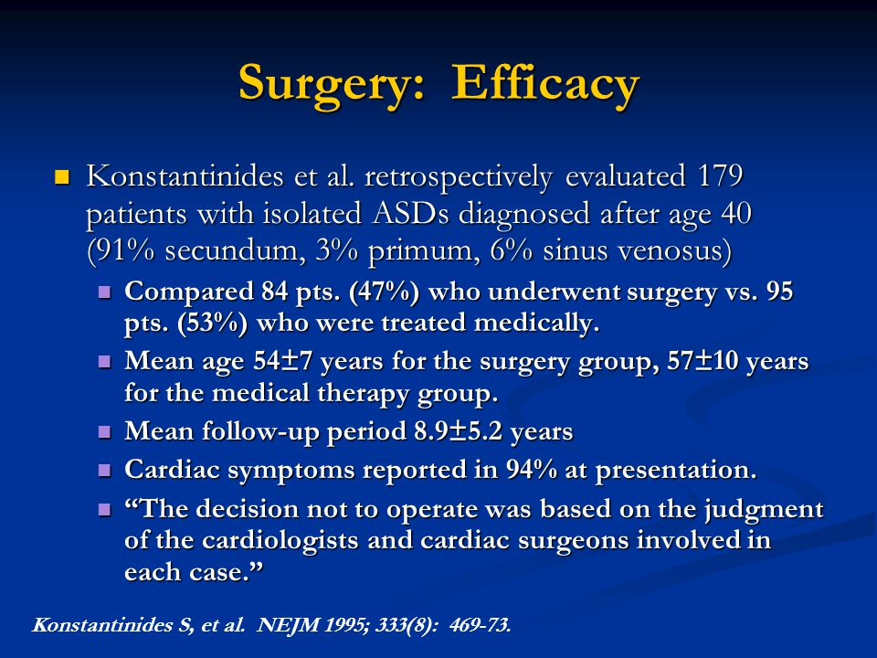Surgery: Efficacy