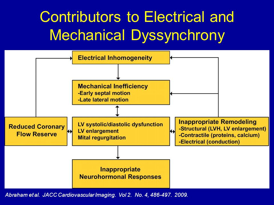 Contributors to Electrical and Mechanical Dyssynchrony