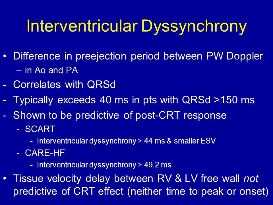 Interventricular Dyssynchrony