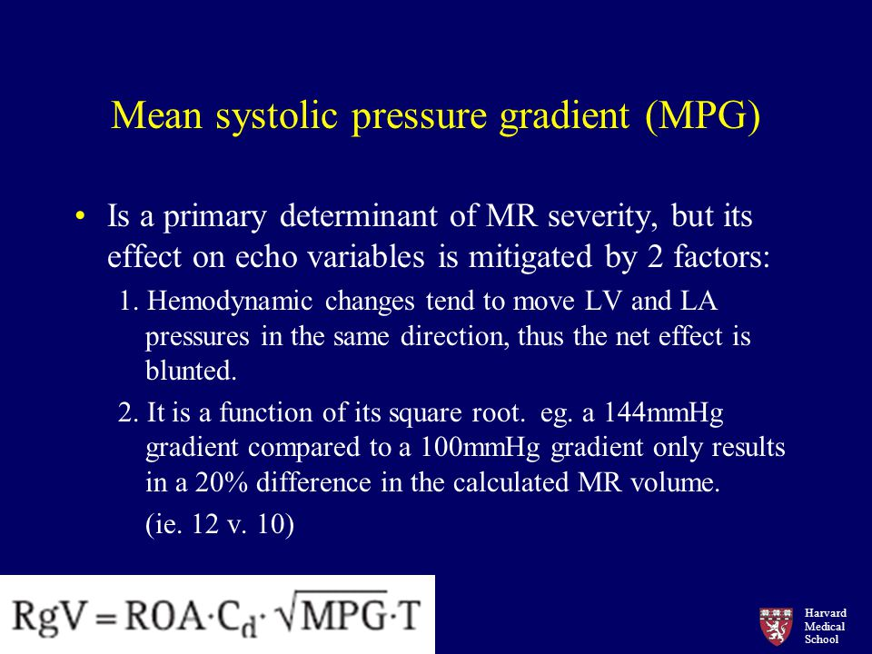 Mean systolic pressure gradient (MPG)