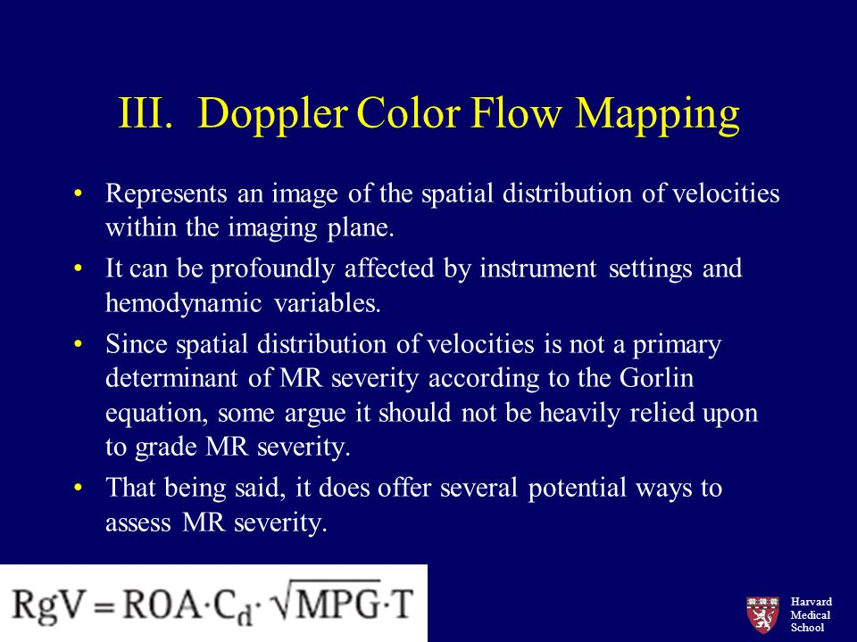 III. Doppler Color Flow Mapping
