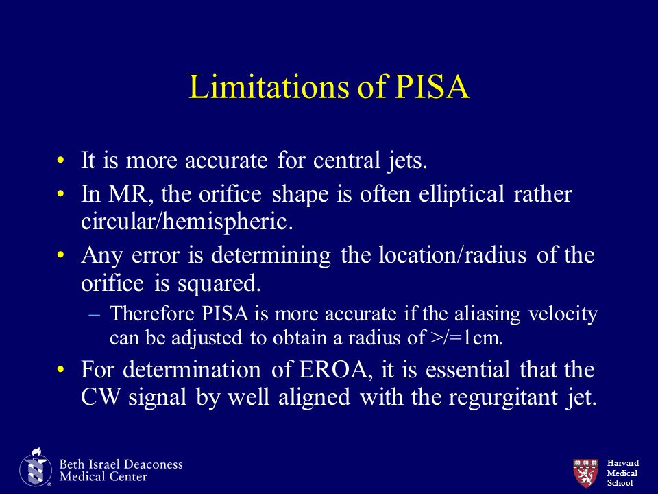 Limitations of PISA It is more accurate for central jets.