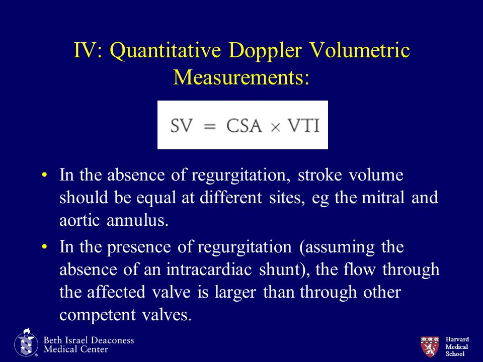 IV: Quantitative Doppler Volumetric Measurements: