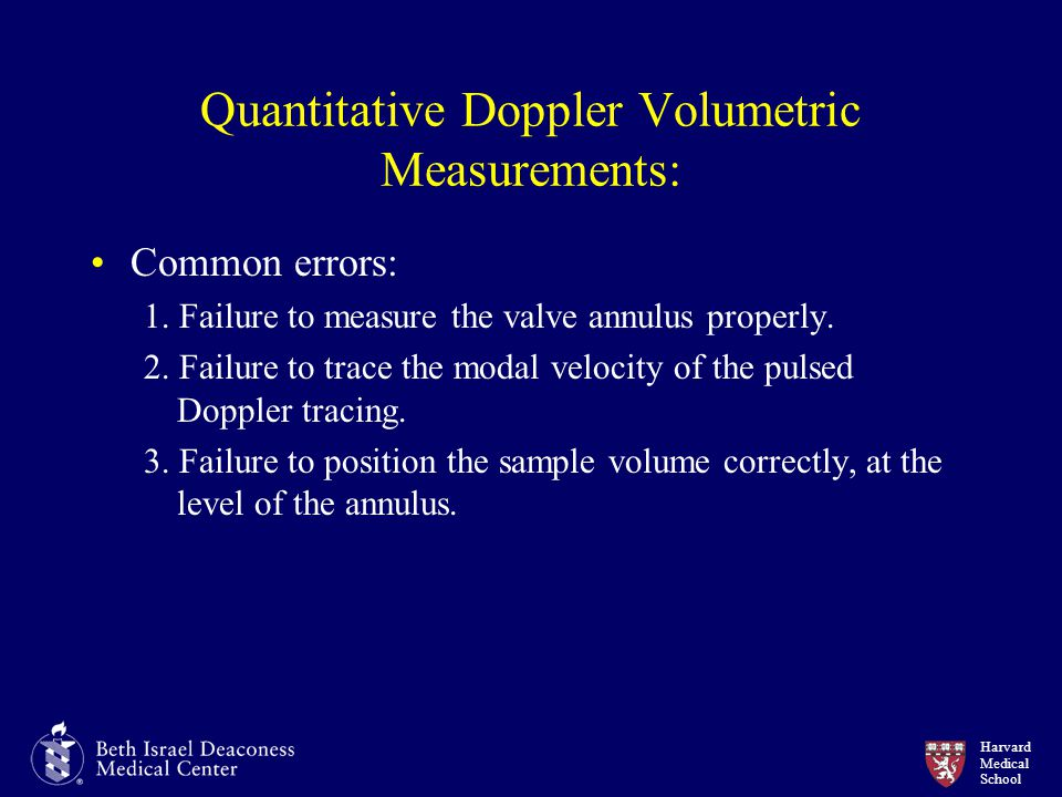 Quantitative Doppler Volumetric Measurements: