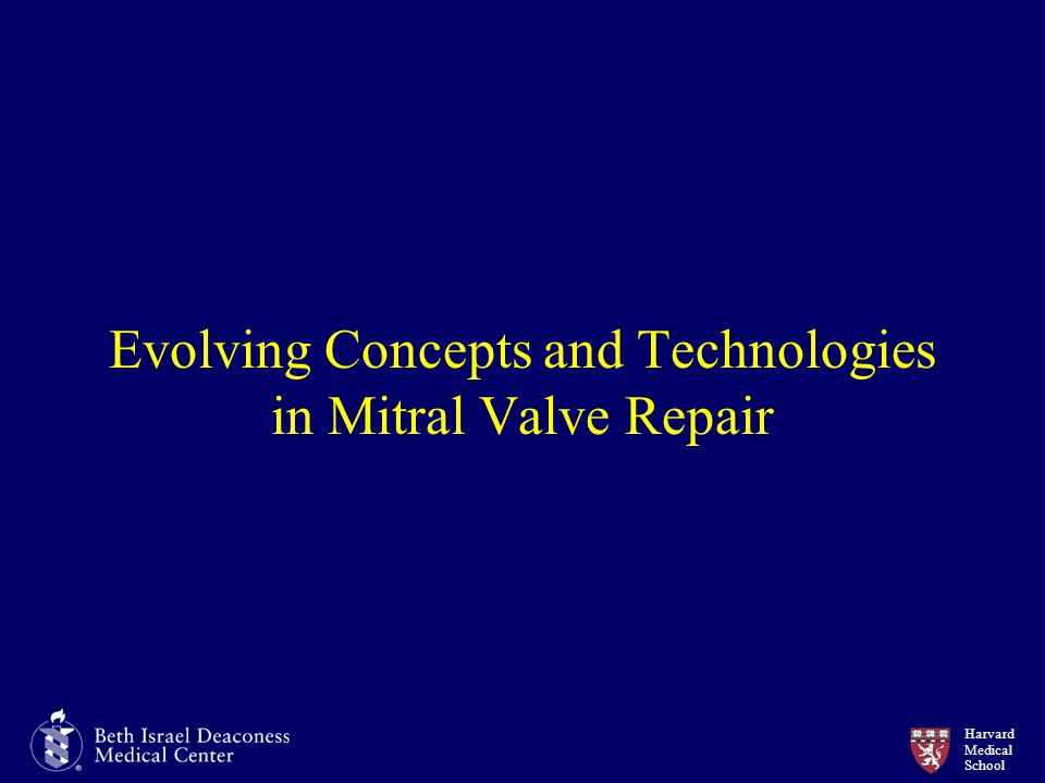 Evolving Concepts and Technologies in Mitral Valve Repair