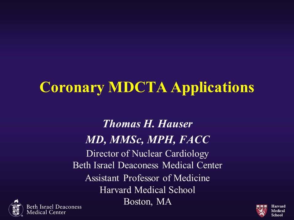 Coronary MDCTA Applications