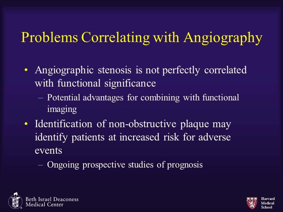 Problems Correlating with Angiography