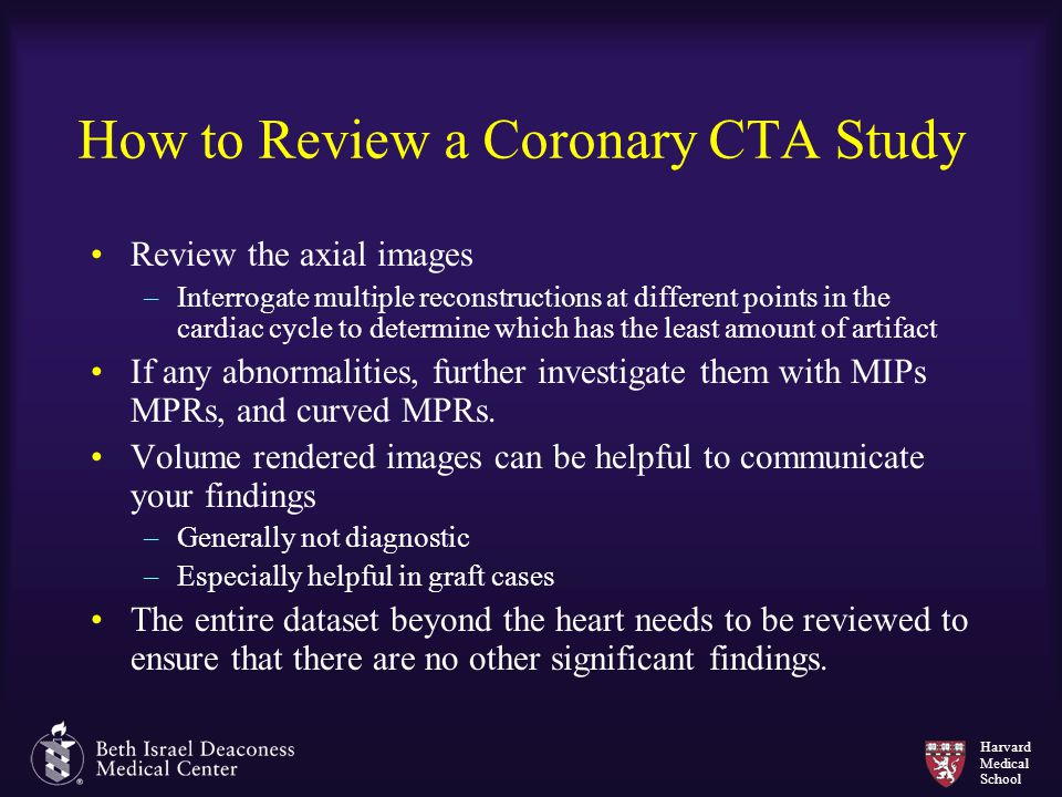 How to Review a Coronary CTA Study