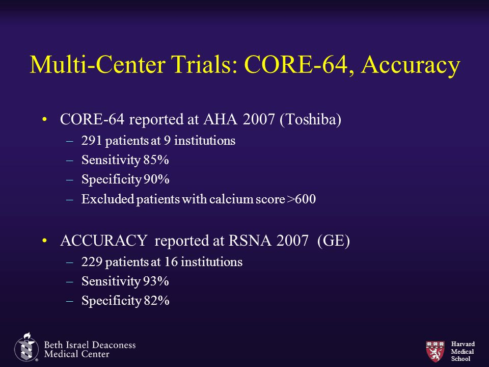 Multi-Center Trials: CORE-64, Accuracy