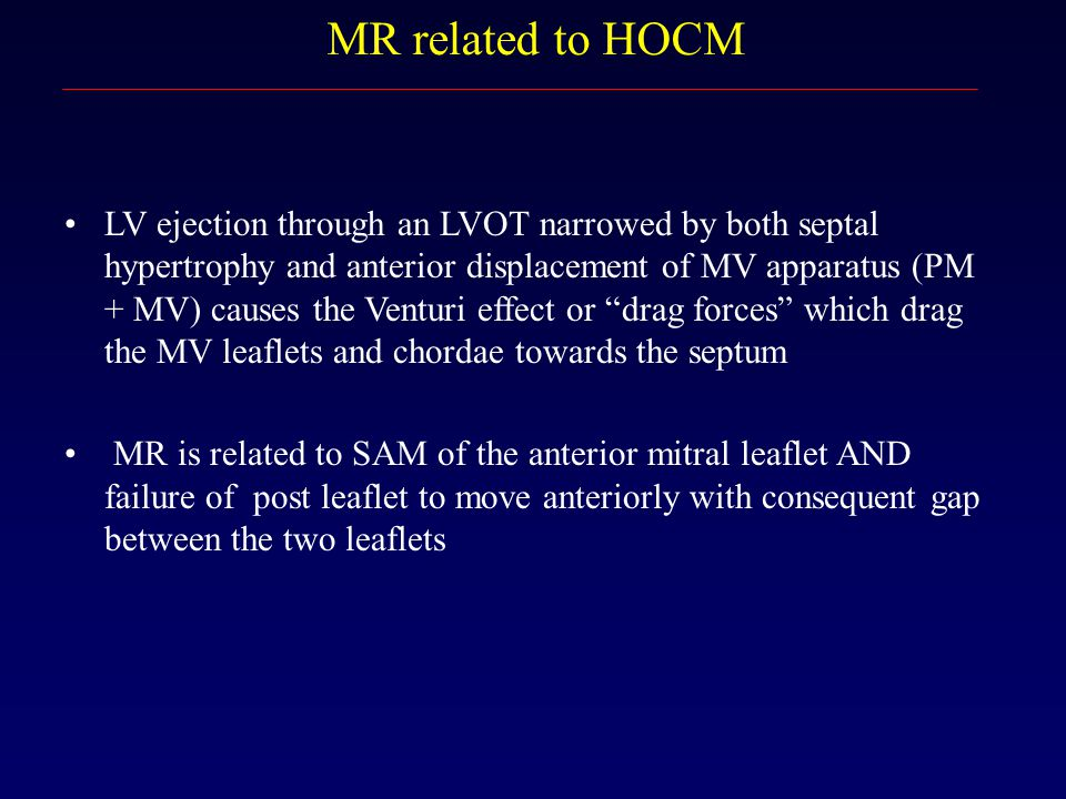 MR related to HOCM