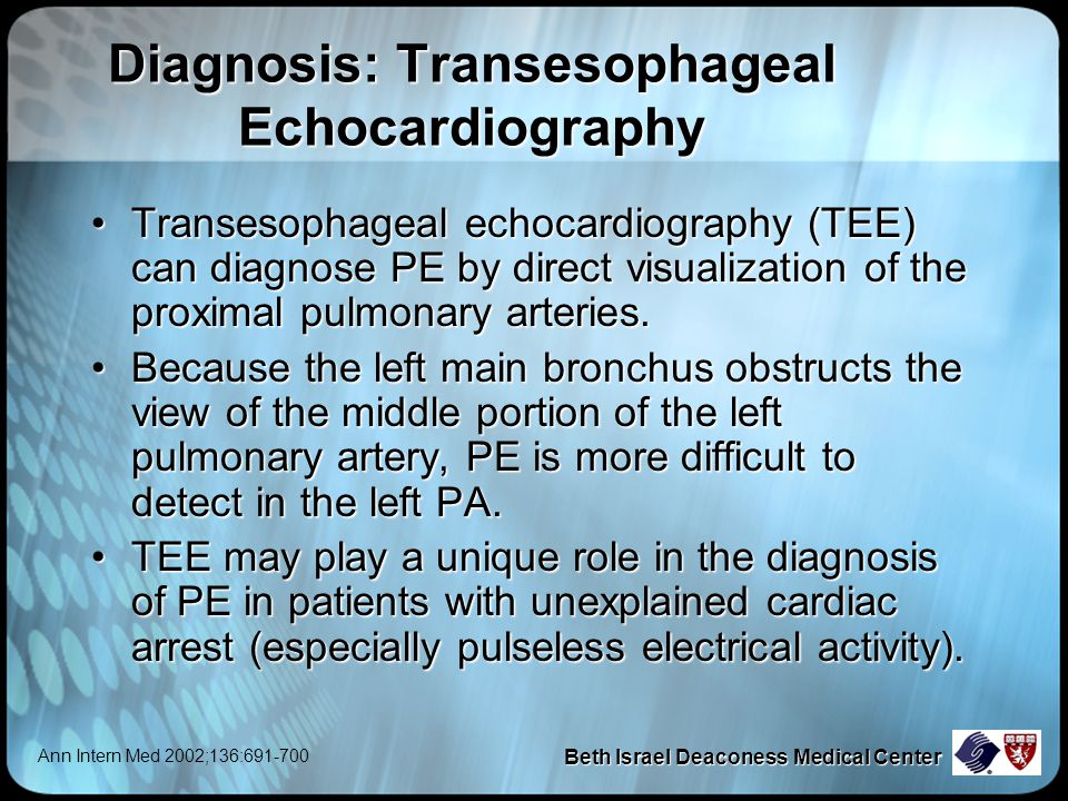 Diagnosis: Transesophageal Echocardiography