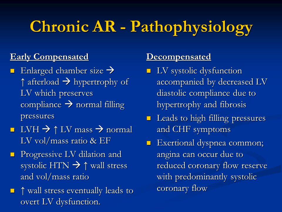 Chronic AR - Pathophysiology