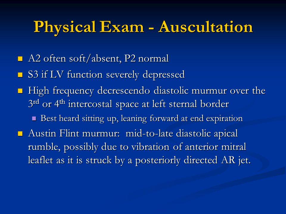 Physical Exam - Auscultation