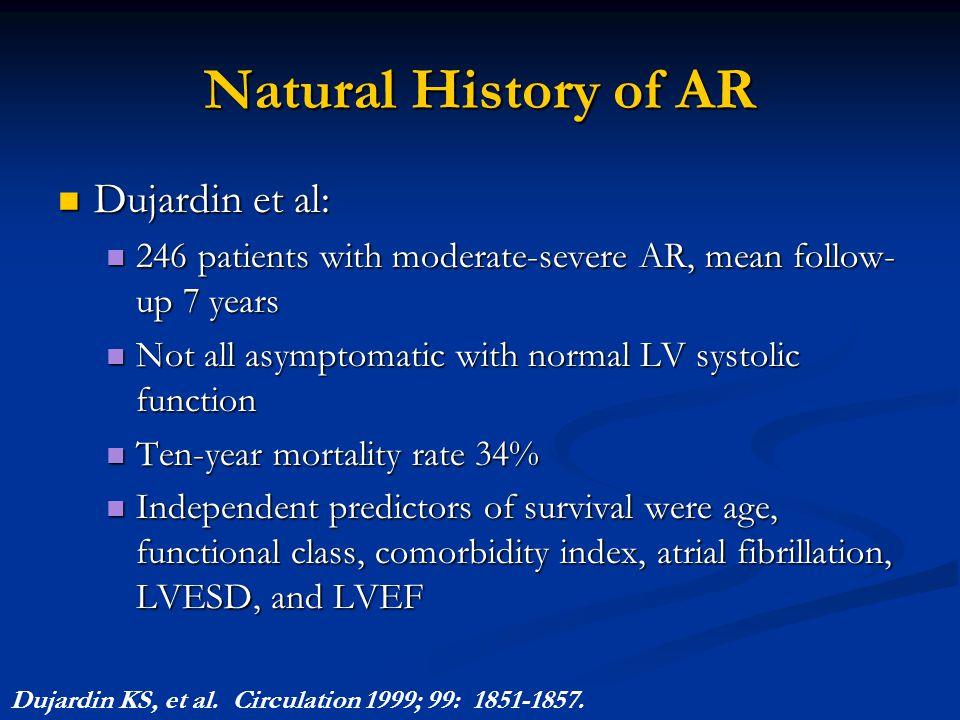 Natural History of AR Dujardin et al: