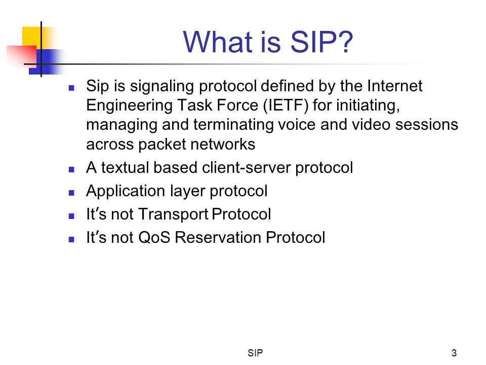 What is SIP