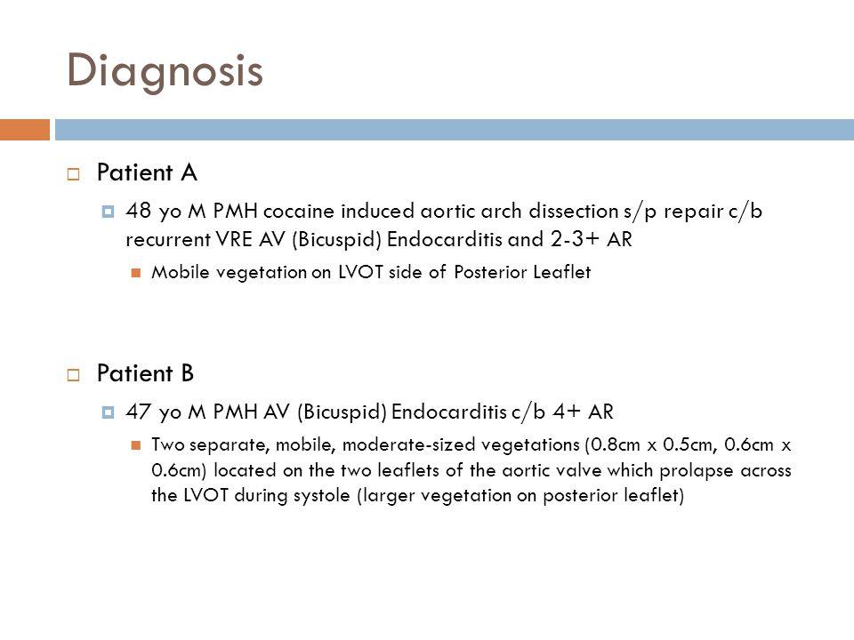 Diagnosis Patient A Patient B