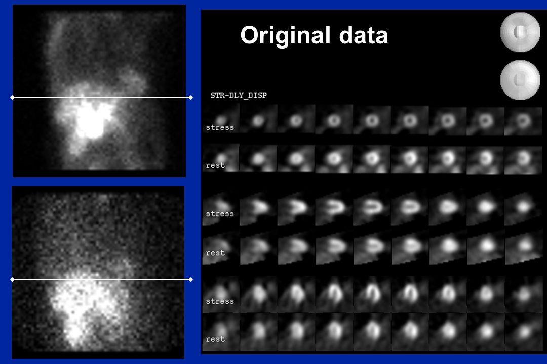 Original data Original data gives a much better reconstruction.
