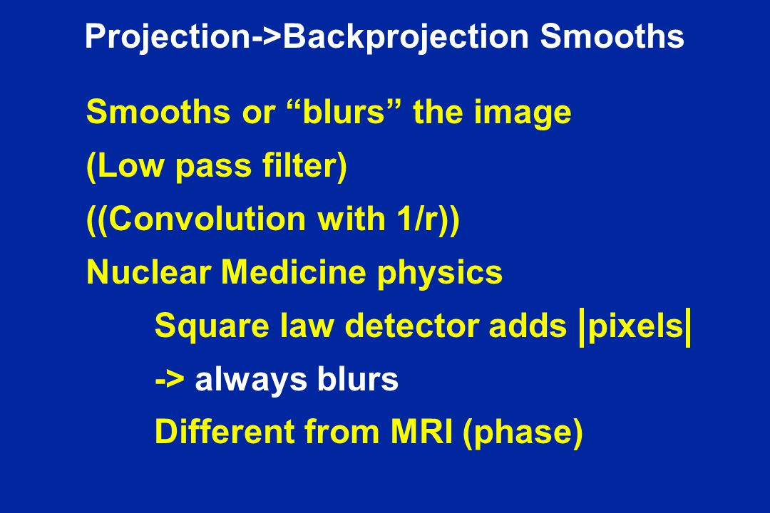 Projection->Backprojection Smooths