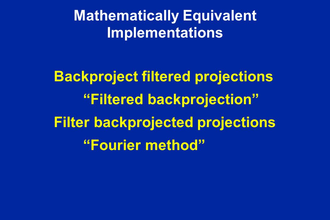Mathematically Equivalent Implementations