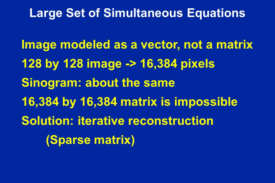 Large Set of Simultaneous Equations