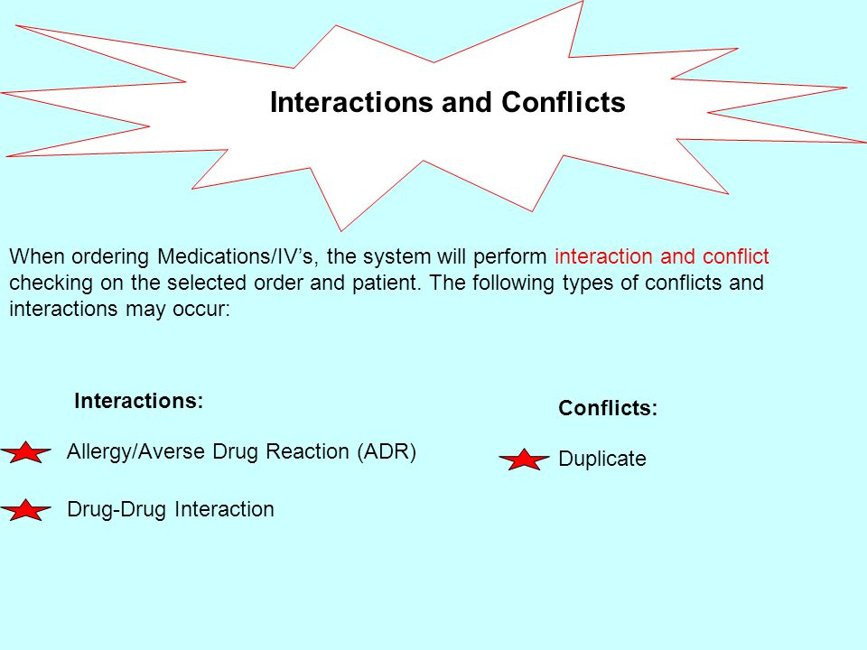 Interactions and Conflicts