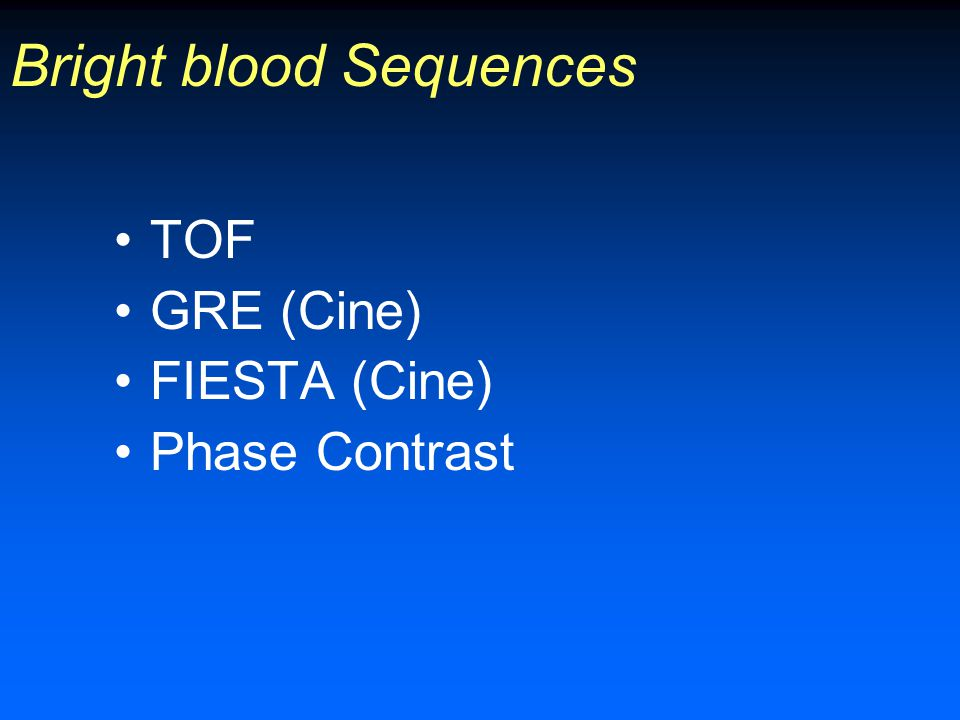 Bright blood Sequences
