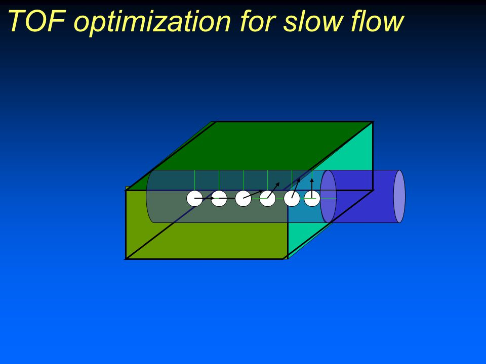 TOF optimization for slow flow