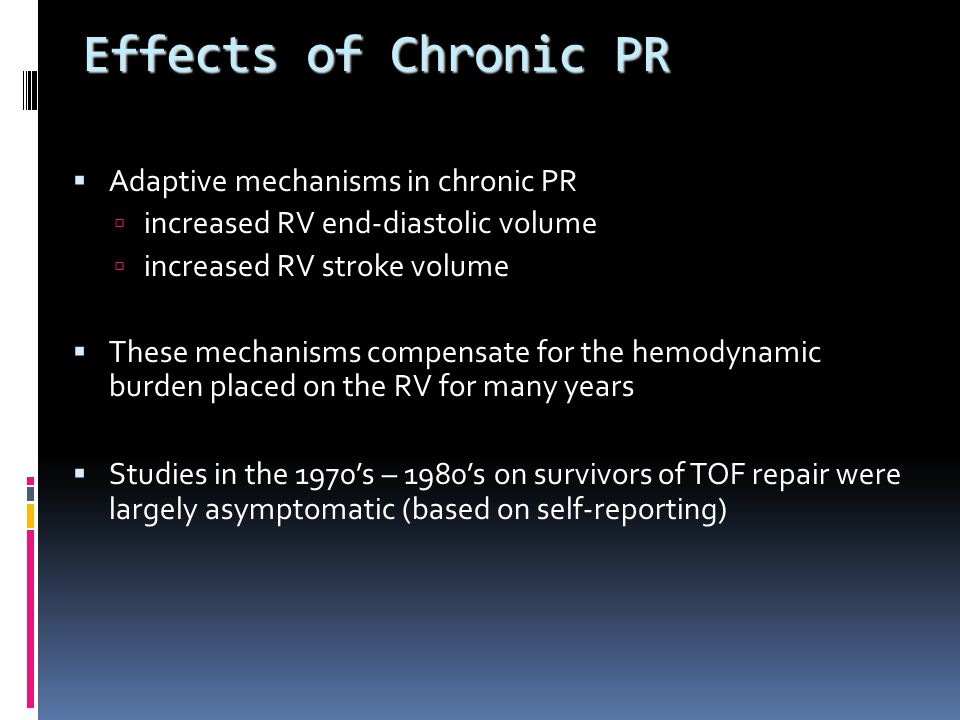 Effects of Chronic PR Adaptive mechanisms in chronic PR
