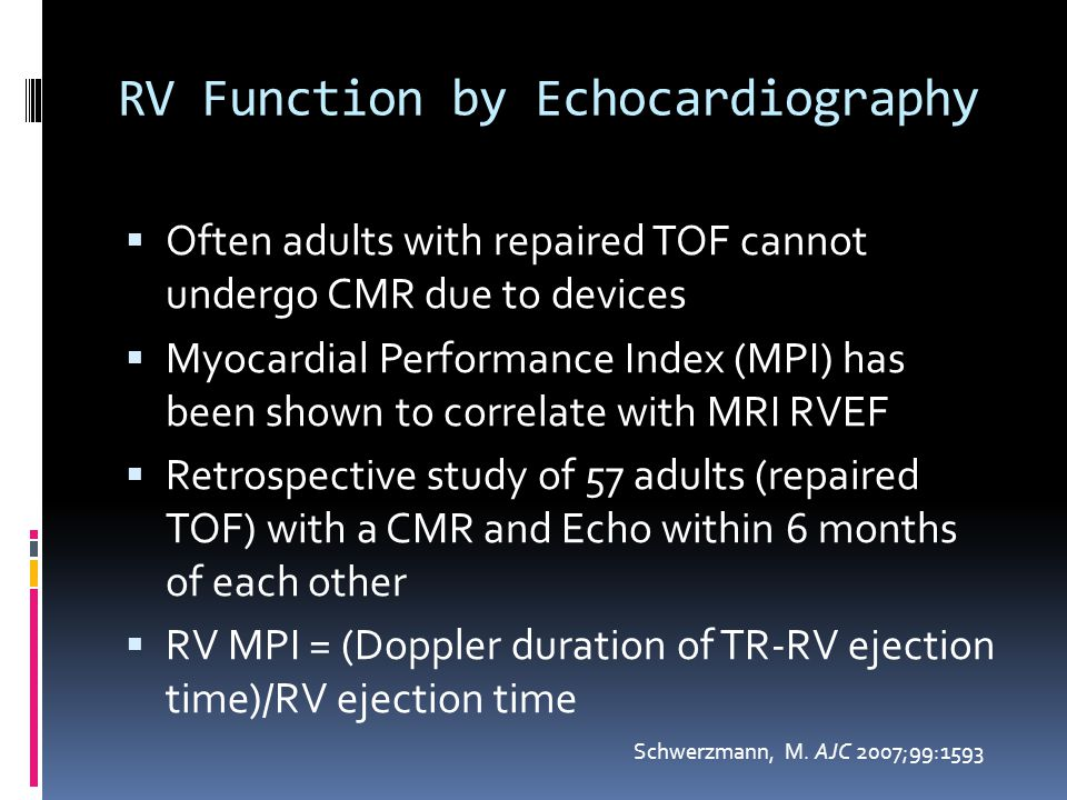RV Function by Echocardiography