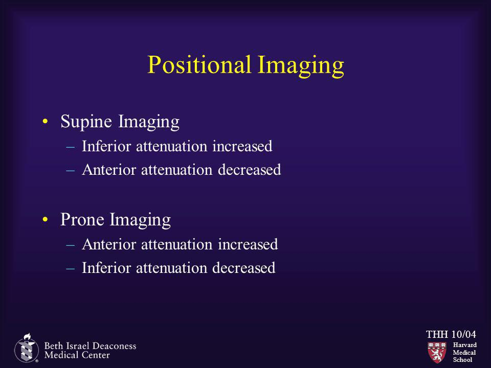 Positional Imaging Supine Imaging Prone Imaging
