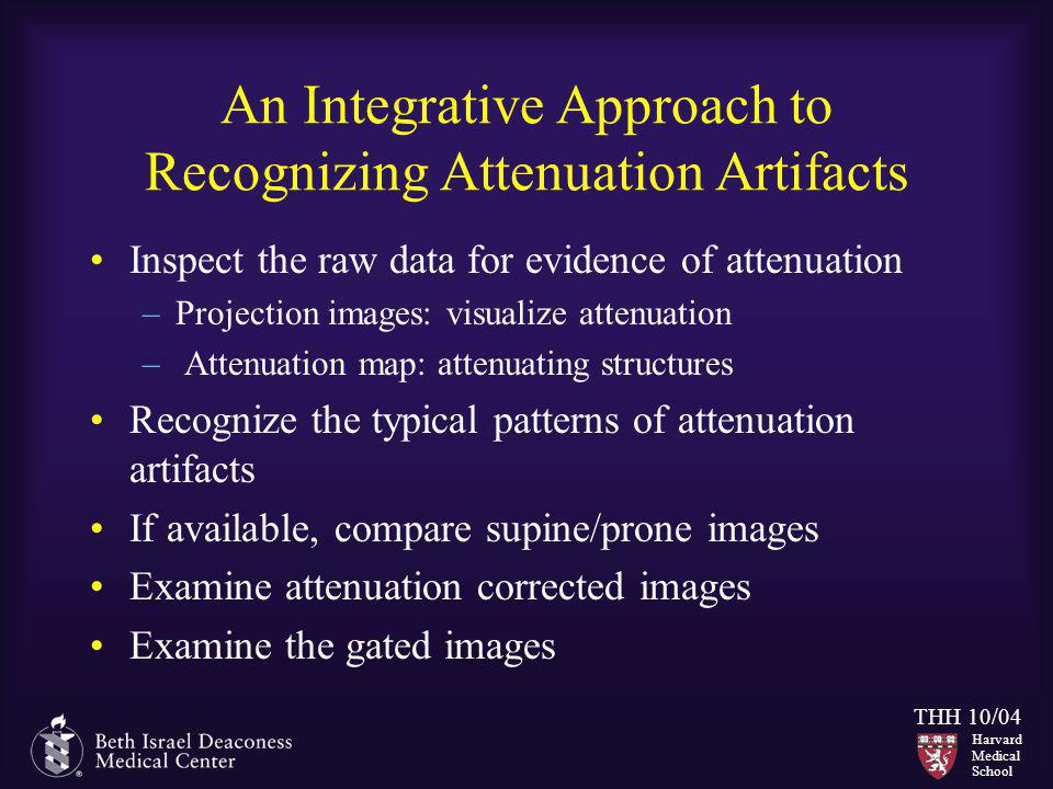 An Integrative Approach to Recognizing Attenuation Artifacts